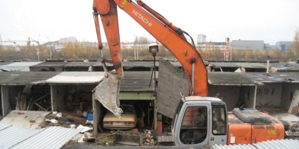 Снос гаражей в Новосибирске