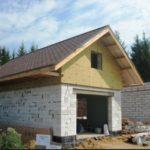 Строительство гаража из пеноблоков (пенобетона)