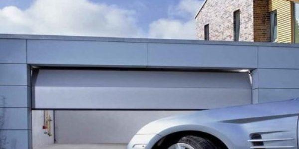 Секционные ворота для гаража LPU 40 стальные двустенные 42 мм