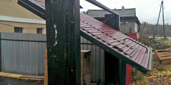 Установка подъемно-поворотных ворот для гаража