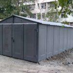 Разборный металлический гараж б.у. (Ижорский)